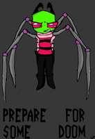 Invader ZIM with spider legs by MeuMeuArt101