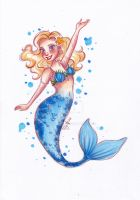 Blue Tailed Mermaid by My-Anne