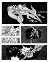 Space dogfight comic by sabertoothliger