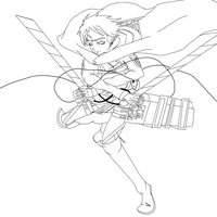 Aot/SnK Levi Outline by MineSujiFan
