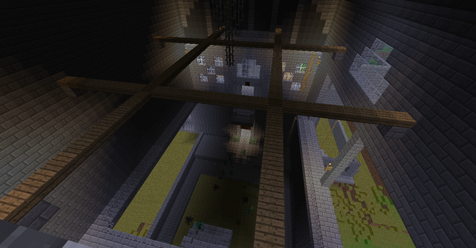 Ico Castle in Minecraft Chandelier Room by psycho-pigeon