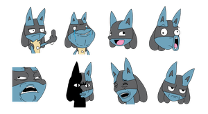 Lucario Meme faces by Winick-Lim