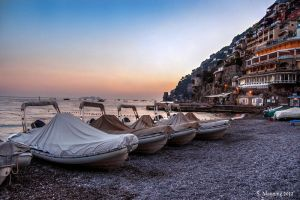 Positano at Sunset by rainyrose23