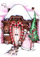 Candy Cane house by MoonlightPrincess
