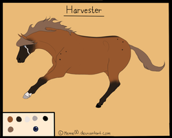 Harvester reference sheet by Meme00