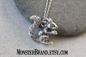 Large Squirrel Necklace by MonsterBrandCrafts