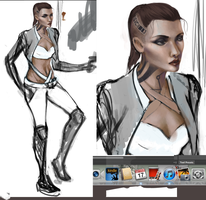 Mass Effect 3 Jack WIP by jia-ming