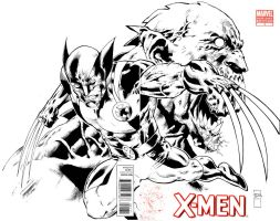 xmen blank cover art by orphanshadow
