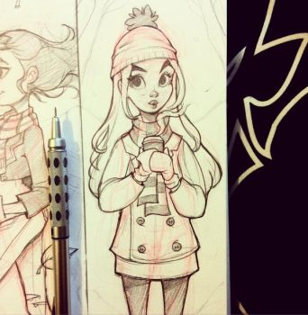 Sketchbook Girl by chrissie-zullo