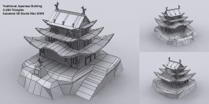Japanese Building Model by AzadX