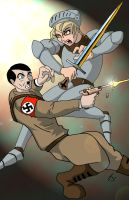 Joan of Arc VS Adolf Hitler by coldangel1