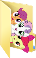 Cutie Mark Crusaders folder icon by rileystrickland