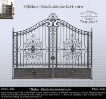Historical Gate with Ornaments by YBsilon-Stock
