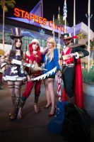 Leauge of Legends World Finals Cosplay Group by Kiwiibuns