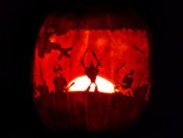 DeathSpank Pumpkin by ceemdee