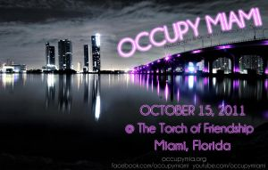 Occupy Miami Poster by AliWithAnEye