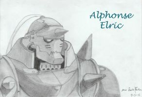 FullMetal Alchemist drawings - Alphonse elric by mangaslover