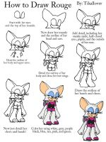 How to Draw Rouge Full Body by TikalLover