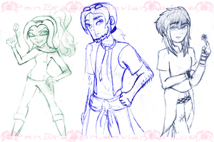 EAH: OC Sketches 02 by KPenDragon
