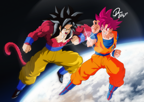 Battle of Gokus by DairoOrtiz