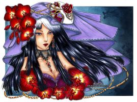 :Gift: Altais ~ Red Orchids by Linelana