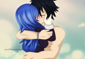 Passionate Gruvia Kiss - Fairy Tail by xBebiiAnn