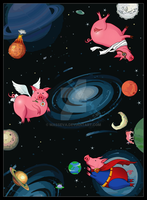 Flying Pigs In Space by masseva