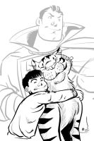 Billy Batson and Talking Tawny by BernyArrBee