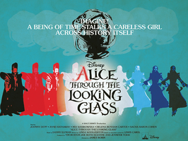 Alice Through The Looking Glass Vintage Poster by Jarvisrama99