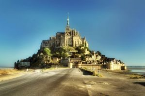 Mont-Saint-Michel in summer morning by kakobrutus
