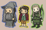 lotr/the hobbit chibis by cheesylily02