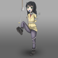 Tomoko chained up by imoutoid