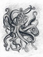 octopus and anchor by teaparty-trash