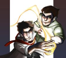 Mako and Bolin by vanduobones