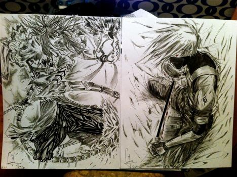 Renji vs Kakashi by Tijums
