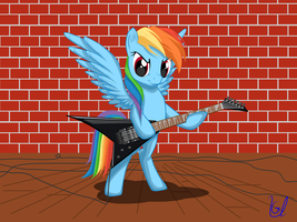 Rainbow Dash plays guitar by Ulanov75