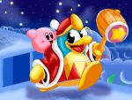 Kirby and his friend King DeDeDe by UncleLaurence