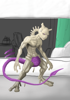 Mewtwo WIP by Crackdtoothgrin