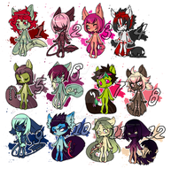 Tiny-mini Tailmouths by DGAdopts