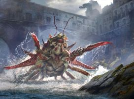MTG - Skittering Crustacean -Conspiracy: Take the by jason-felix