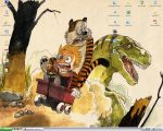 Calvin and Hobbes wallpaper by watchingclouds