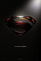 Man Of Steel - Shield - Fan Poster by P2Pproductions