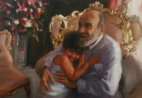 Boy and Grandfather by m-ajinah
