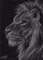 ACEO: LION Felines Silver Edition by Illumielle