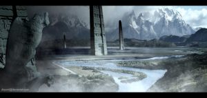 Valley of Towers by DriPoint