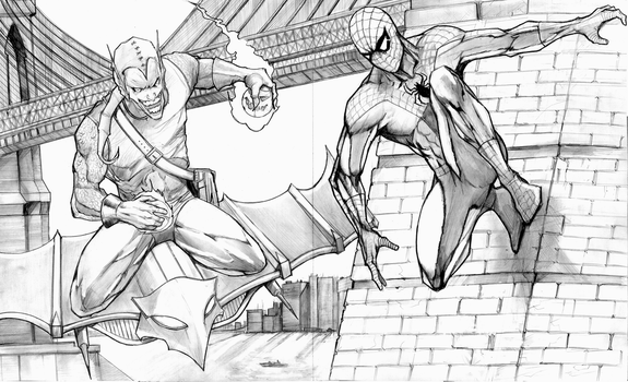 SPIDEY VS GOBS by Hey-Abbott