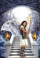 The Archangel Uriel by 4steex