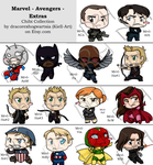 Chibi Collection - Avengers - Extras by Kiell-Art