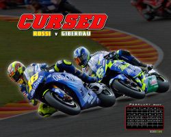 Rossi v. Gibernau desktop by TreborDesigns