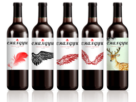 wine label redesign by HuoYaoRi